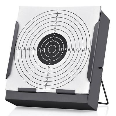 14cm Funnel Target Holder + 100 Targets Air Rifle Airsoft Pellet Trap Shooting
