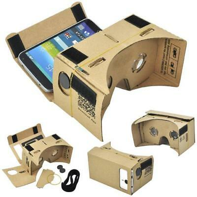 Google Virtual Reality Cardboard 3D VR Headset For iPhone Android Viewer Glasses