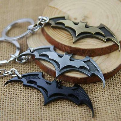 Hot Super Hero Dark Knight Batman Bat Metal Ring Keychain Pendant Key Chain
