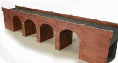 Metcalfe PO240 Double Track Red Brick Viaduct Card Kit OO/HO Gauge