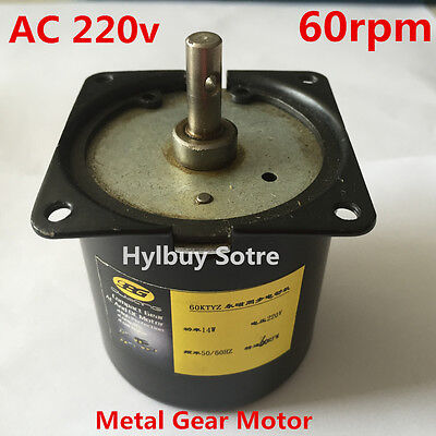 AC 220v 230v Reversible Motor Strong Magnetic High Torque 60rpm slow speed