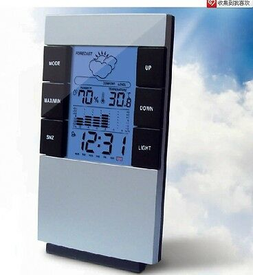 LCD Car/Home Indoor Hygrometer Temperature Humidity Weather Meter Station