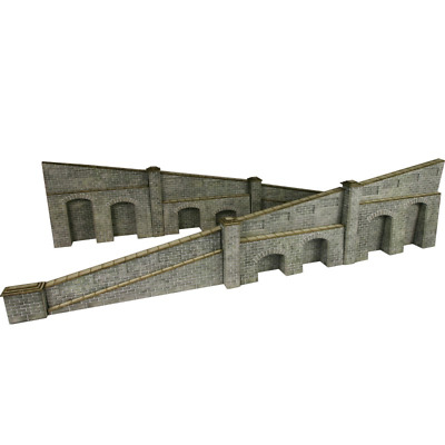 Metcalfe PO249 Tappered Retaining Wall in Stone Card Kit OO/HO Gauge