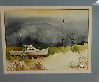 Vintage Watercolor Signed Georgia Dearborn