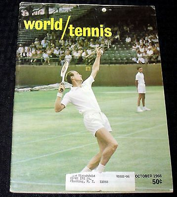 1966 October World Tennis Magazine Decent Cond!!