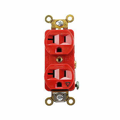 Hubbell Ig5362R Duplex Receptacle Spec Grade 20A 125V Ground, Red