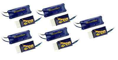 DCC Concepts DCD-ZN6D-5 Zen 6-Pin Direct 2-Func DCC Decoder & Stay Alive (Pk5)