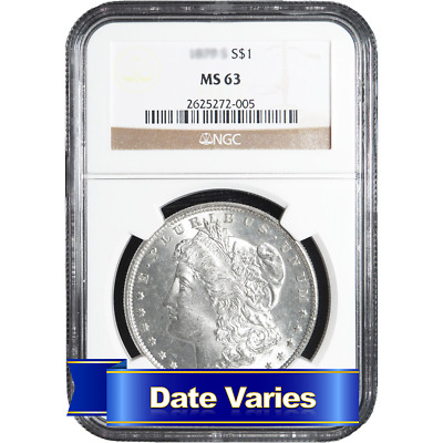 1878 to 1904 $1 Morgan Silver Dollar NGC MS63 Random Date