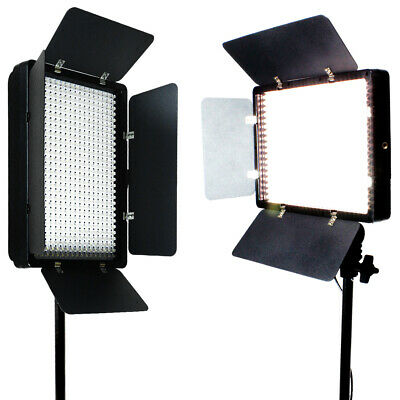2 X 500 LED Light Panel Kit Photography Video Studio Lighting Dimmer Mount Photo