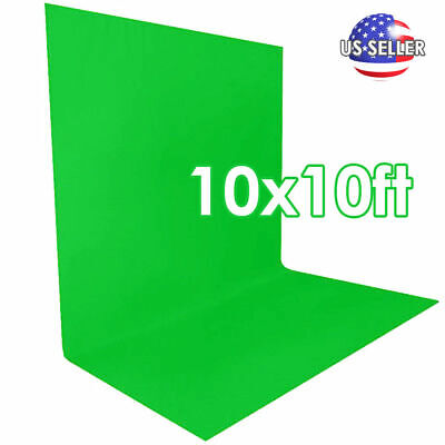 10x10 ft Wrinkle Free Chromakey Green Screen Backdrop Photography Background