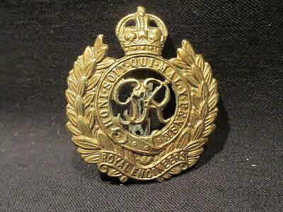 Royal Engineers WWII British Army Cap Badge with Slider Strap