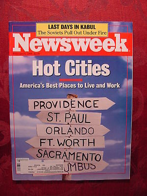 "NEWSWEEK February 6 1989 HOT CITIES ""LONESOME DOVE"" +++"