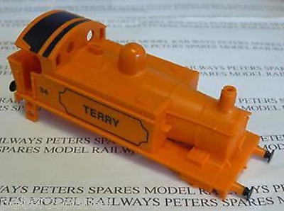 Hornby H35 GWR Class 101 0-4-0 Steam Loco 34 Terry Orange Bodyshell With Buffers
