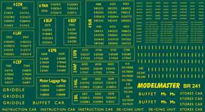 Modelmaster BR241 BR EMU Numbers 1948 -1965 Southern Electric Multiple Units OO