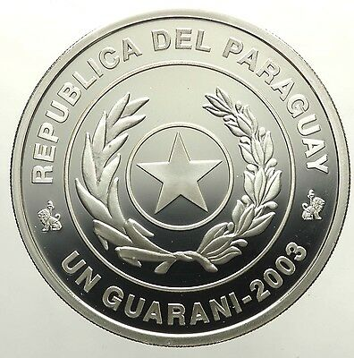 PARAGUAY 1 Guarini 2003 Copa Mondial 2006 Germany Deutschland Silver Proof