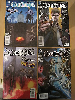 CONSTANTINE #s 20,21,22,23 by FAWKES & GUEDES. HELLBLAZER. DC The NEW 52. 2015