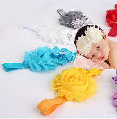 Kid Girl Baby Toddler Infant 10Pc Flower Headband Hair Bow Band Hair Accessories