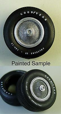 AMT 1970-72 Camaro Resin Stock Hub Caps PO2 Style w/Simulated Flags