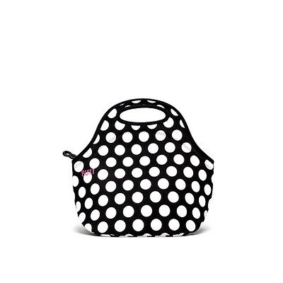 BUILT NY Neoprene Insulated Food Bags / Lunch Totes Big Dot Black&White