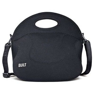 BUILT NY Neoprene Insulated Food Bags / Lunch Totes Black