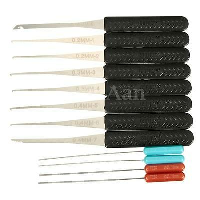 12pcs Stainless Steel Broken Key Extractor Lock Removal Remover Tool Hook Needle
