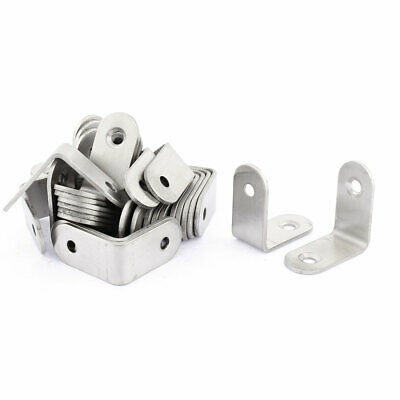 Furniture Round End 90 Degree Right Angle Bracket 30 x 30mm 30pcs
