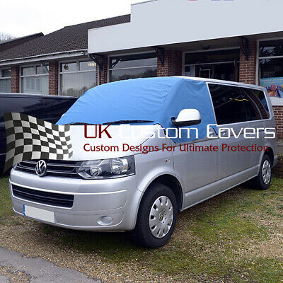 Vw T5 T6 Transporter Van Deluxe Windscreen Screen Curtain Wrap Cover 190 Blue