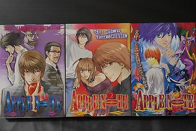 JAPAN Death Note Yaoi Anthology Comic: Apple Note 1~3 Complete Set