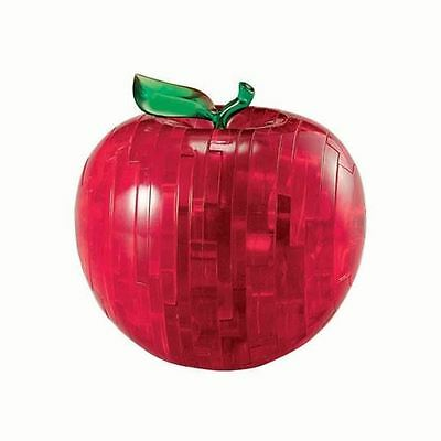 Crystal Puzzles 3D Red Apple 44 Piece Designer Jigsaw Brain Teaser Model Kit