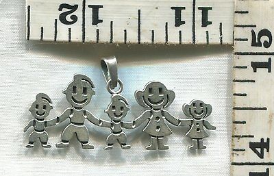 Vintage Sterling Silver Pendant~#68961~A Family You Can Wear Around Your Neck...