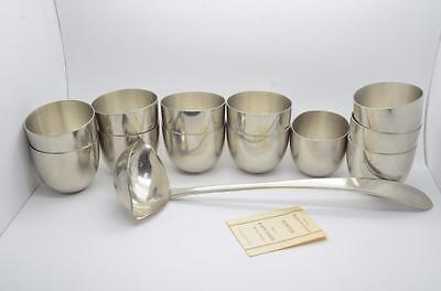 Kirk Stieff Pewter 12 Cups With Ladle {42600,1B8}