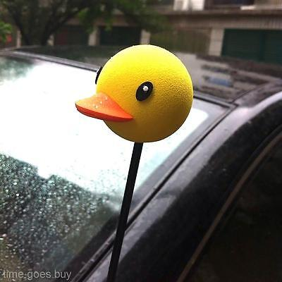 Cool Yellow Duck Car Aerial Ball Antenna Topper Truck SUV Pen Decor Gift Toy New