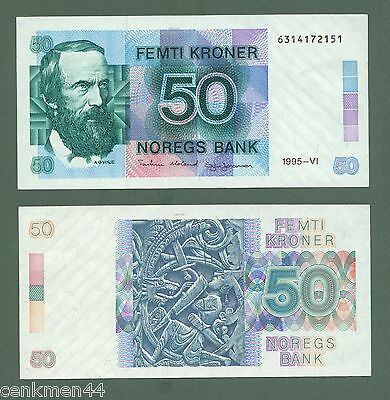 NORWAY NORWEGEN 50 Kroner 1995 Pick # 42d UNC