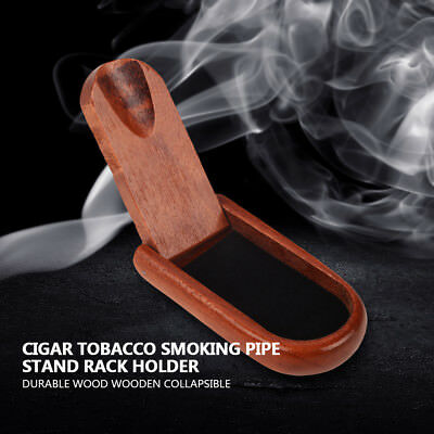 Brand New Wood Wooden Collapsible Cigar Tobacco Smoking Pipe Stand Rack Holder