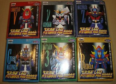 Super Robot Wars Sd Figure Collection Bpz Set Gundam/daitarn 3/great Mazinger