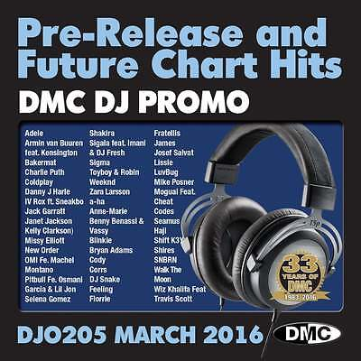 DMC DJ Only 205 Promo Chart Music Disc for DJ's Adele Pitbull Coldplay New Order