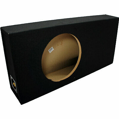 "Car Audio Single 12"" Slim Ported Vented Truck Box Subwoofer Bass Speaker Sub Box"