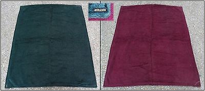 Antique Maroon Red & Green Horsehair Lap Sleigh Buggy Blanket by Chase. Nice!