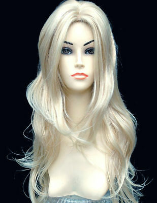 Ladies Stunning XXX Long Platinum Strawberry Blonde Wig Hair. Forever Young Wigs