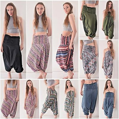 Harem Pants Organic Cotton Unisex Ali Baba Harem Trousers Fair Trade Hippy Boho