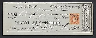 USA 1880s/90s FOUR CANCELLED CHEQUES MERCHANTS BANK FIRST NATIONAL BANK