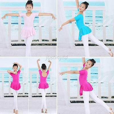 Sweet Girls Child Gymnastics Dance Dress Kids Ballet Tutu Skirt Leotard Dresses