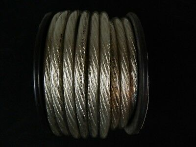 0 Gauge Wire 25 Ft Silver 1/0 Awg Power Ground Cable Stranded Automotive Car