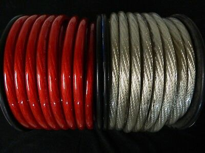0 Gauge Wire 50 Ft 25 Red 25 Silver 1/0 Awg Power Ground Cable Stranded Car