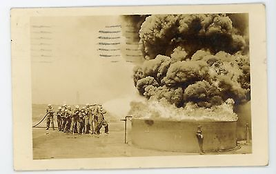 Occupational Military fireman Great Lakes Illinois Naval  Vintage RPPC Postcard