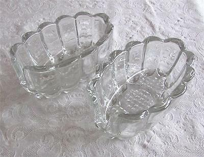 Vintage Princess House Heavy Clear Glass Buffet Spoon Or Fork Holders-Euc