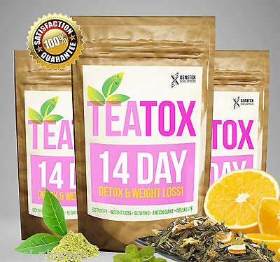 COLON CLEANSE FAT BURN 14 DAY SKINNY TEA Weight Loss Tea Slimming Tea, Detox Tea