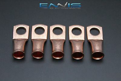 2 Gauge Copper 3/8 Ring 5 Pk Crimp Terminal Connector Awg Ga Car Eye Cur238