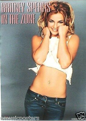 """BRITNEY SPEARS """"IN THE ZONE"""" HONG KONG PROMO POSTER - Sexy & Showing Flat Belly!"""