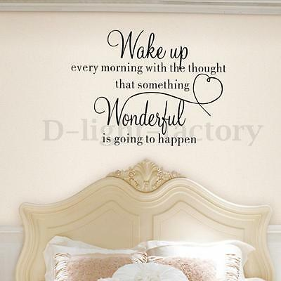 Wake Up Quote Removable Wall Sticker Vinyl Home Decoration Bedroom Art DIY Decal